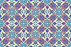 Mosaic tile pattern,islamic motif. Ottoman empire period royalty free stock images
