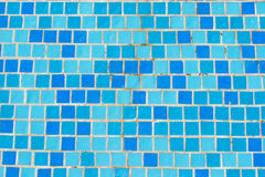 Mosaic tile in pool. Colorful modern mosaic tile in a bathroom blue Royalty Free Stock Photography