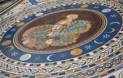 Mosaic Tile Woman on Vatican Floor Royalty Free Stock Photos