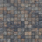 Mosaic tile worn old wall floor Stock Images