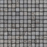 Mosaic tile worn old wall floor with cracks white Royalty Free Stock Photo