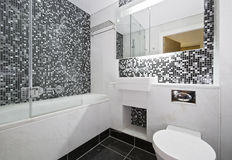 Mosaic tiled bathroom Royalty Free Stock Photos