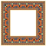 Mosaic tiled boarder. A colourful mosaic tile frame boarder as used in interior design Stock Image