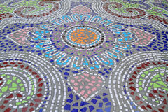 Mosaic tiled floor background Stock Photography