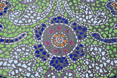 Mosaic tiled floor background Royalty Free Stock Photography