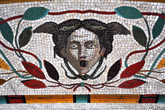 Mosaic tiled floor in the Vatican museums Stock Images