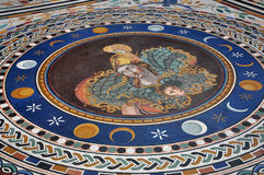 Mosaic tiled floor in the Vatican museums Stock Image