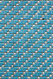 Mosaic Tiles. Blue and White square mosaic tiles on the wall Stock Photography