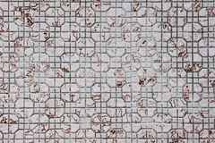 Mosaic Tiles. Square mosaic tiles on the wall Royalty Free Stock Photography