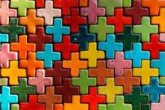 Mosaic tiles background Stock Photos
