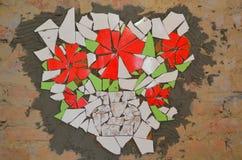 Mosaic tiles with bat Stock Photos