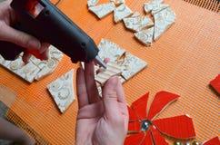Mosaic tiles with bat Royalty Free Stock Photos