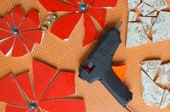 Mosaic tiles with bat Stock Image