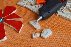 Mosaic tiles with bat Royalty Free Stock Photo