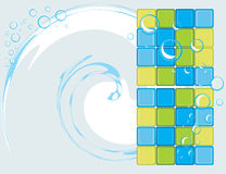 Mosaic tiles for bathroom. Abstract background stock photography
