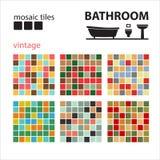 Mosaic tiles-01 stock illustration