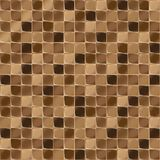 Mosaic tiles for bathroom and spa. Seamless background. Repeating texture. Brown shiny tile illustration. Stock Photo