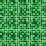 Mosaic tiles for bathroom and spa. Seamless background. Repeating texture. Green shiny tile illustration. Royalty Free Stock Images
