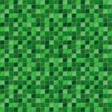 Mosaic tiles for bathroom and spa. Seamless background. Repeating texture. Green tile illustration. Stock Photo