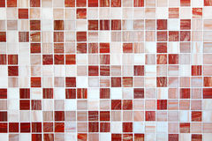 Mosaic tiles in brownish red and white. Wall and floor mosaic tiles in brownish red and white Stock Photos