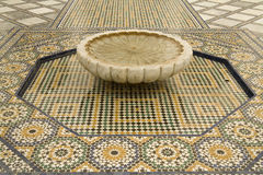 Mosaic tiles and fountain Royalty Free Stock Photography