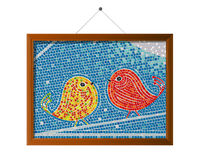 Mosaic tile birds Stock Photos