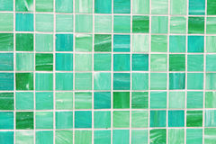 Mosaic tiles in green turquoise blue. Wall and floor mosaic tiles in green turquoise blue Stock Photography