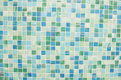 Mosaic tiles in green turquoise blue. Wall and floor mosaic tiles in green turquoise blue Stock Images