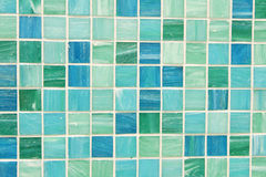 Mosaic tiles in green turquoise blue. Wall and floor mosaic tiles in green turquoise blue Stock Photos