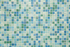 Mosaic tiles in green turquoise blue. Wall and floor mosaic tiles in green turquoise blue Royalty Free Stock Photography