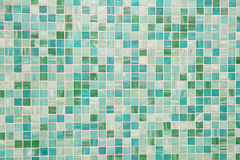 Mosaic tiles in green turquoise blue. Wall and floor mosaic tiles in green turquoise blue Stock Photo