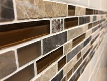 Mosaic tiles made of glass and stone, close up royalty free stock photography