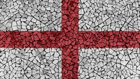 Mosaic Tiles Painting of England Flag. Background Texture stock images