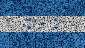 Mosaic Tiles Painting of Honduras Flag. Background Texture stock photos