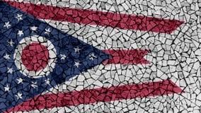 Mosaic Tiles Painting of Ohio Flag royalty free stock image