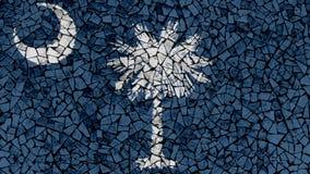 Mosaic Tiles Painting of South Carolina Flag stock photo