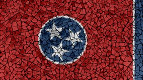 Mosaic Tiles Painting of Tennessee Flag royalty free stock photo