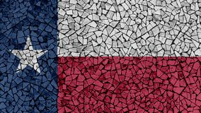 Mosaic Tiles Painting of Texas Flag. US State Background royalty free stock photography