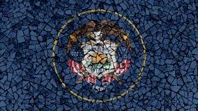 Mosaic Tiles Painting of Utah Flag stock photo