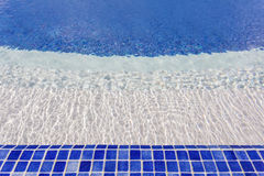Mosaic tiles in the pool with water. The hotel for recreation. Stock Photography
