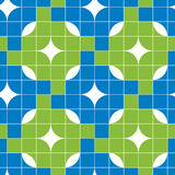 Mosaic tiles seamless pattern, vector background. Stock Photography