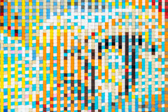 Mosaic Tiles Texture. Mosaic Tiles Abstract Texture Background Stock Photography