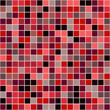 Mosaic tiles texture background. Mosaic tiles texture vector pattern. Square pixel seamless background Royalty Free Stock Photography