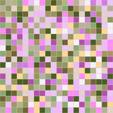 Mosaic tiles texture background. Mosaic tiles texture vector pattern. Square pixel seamless background Stock Image