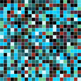 Mosaic tiles texture background. Mosaic tiles texture vector pattern. Square pixel seamless background Royalty Free Stock Photo