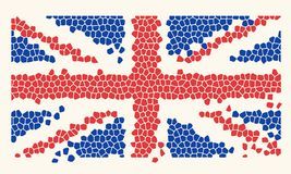 Mosaic Tiles United Kingdom Flag. Vector illustration vector illustration