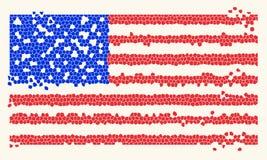 Mosaic Tiles USA Stars And Stripes Flag. Vector illustration vector illustration