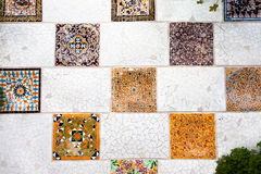 The mosaic tiles wall Royalty Free Stock Photography