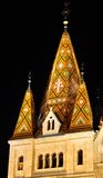 Mosaic tower of Matthias church Royalty Free Stock Image