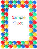 Mosaic toy frame Royalty Free Stock Photo